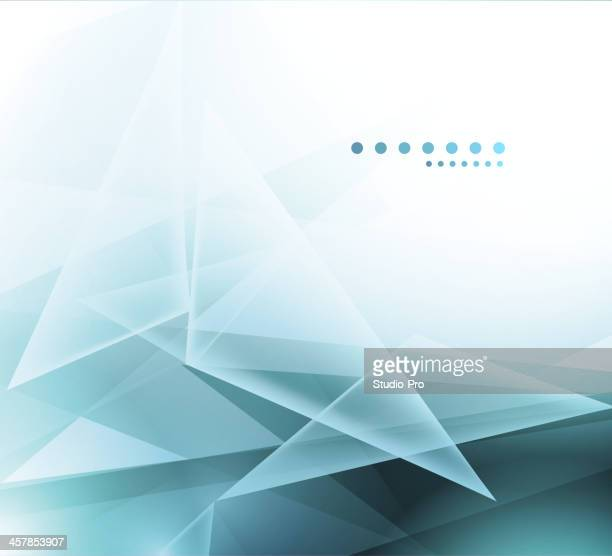 Geometric abstract mosaic background with blue and white