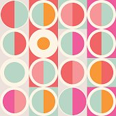 Geometric abstract seamless pattern. Simple motif background. Colorful decoration design