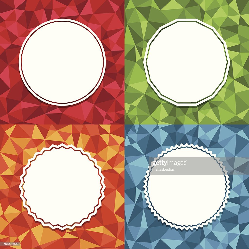 geometric backgrounds : Vectorkunst