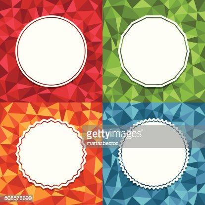 Sfondi geometrici : Arte vettoriale