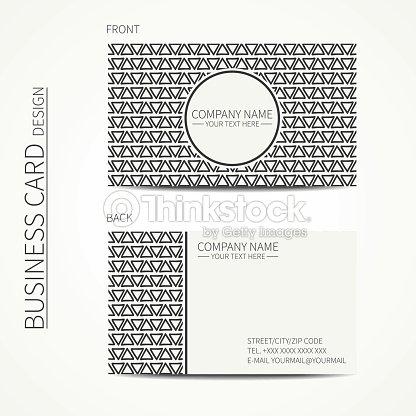 Carte De Visite Modele Geometrique Et Bas Bikini Triangle Dappel