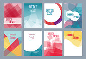 Geometric business templates for brochure, flyer or booklet. Abstract multicolored low poly background. Triangular style book. Vector illustration eps 10
