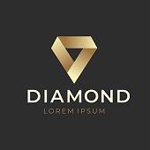 Geometric Creative Diamond Logo Concept. Vector illustration
