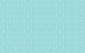 Geometric cube abstract background green aqua and white line vector. Line seamless pattern cube shape.