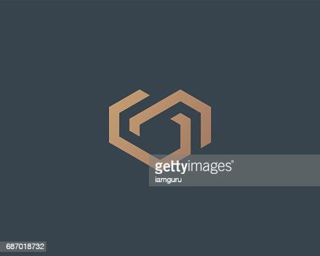 Geometrischen Vektor Herzsymbol. Home-Symbol Vektor Symbol für Liebe. Chain Partner Immobilien Haus Symbol Zeichen : Vektorgrafik