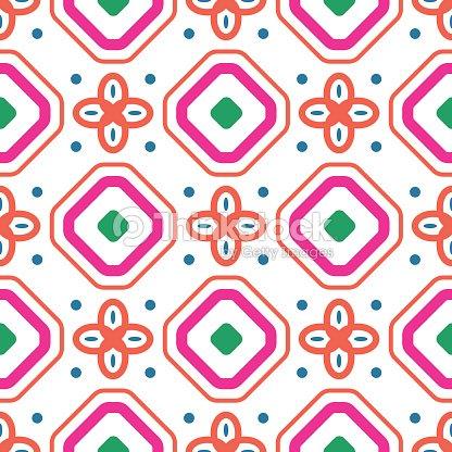 geometrische mediterrane korallen rotwei e raute nahtlose fliese muster vektorgrafik thinkstock. Black Bedroom Furniture Sets. Home Design Ideas