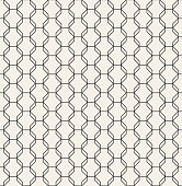 Geometric octagon pattern vector seamless. Polygonal grid texture. Modern abstract line background or web wallpaper.