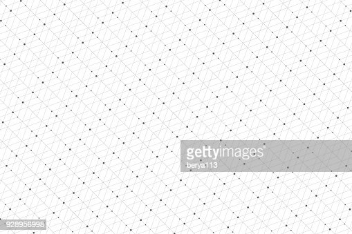 Geometric pattern with connected lines and dots. Graphic background connectivity. Modern stylish polygonal backdrop communication compounds for your design. Lines plexus. Vector illustration : Vector Art