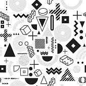 background. Seamless abstract pattern fashion 80-90s. It can be used in printing, website background and fabric design.