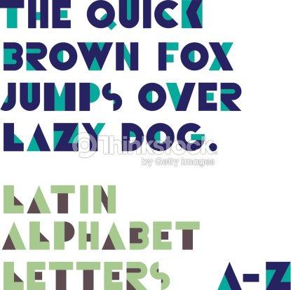 Geometric Shapes Alphabet Letters Retro Font Latin Alphabet