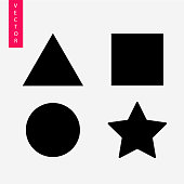 Geometric shapes vector icon