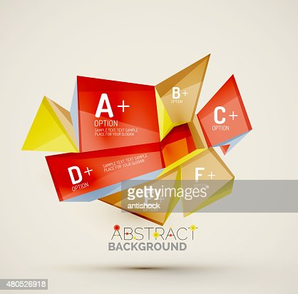 Geometric shapes with sample text. Abstract template : Vectorkunst