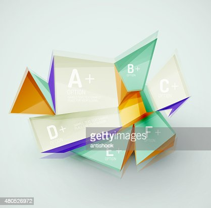 Geometric shapes with sample text. Abstract template : Vector Art