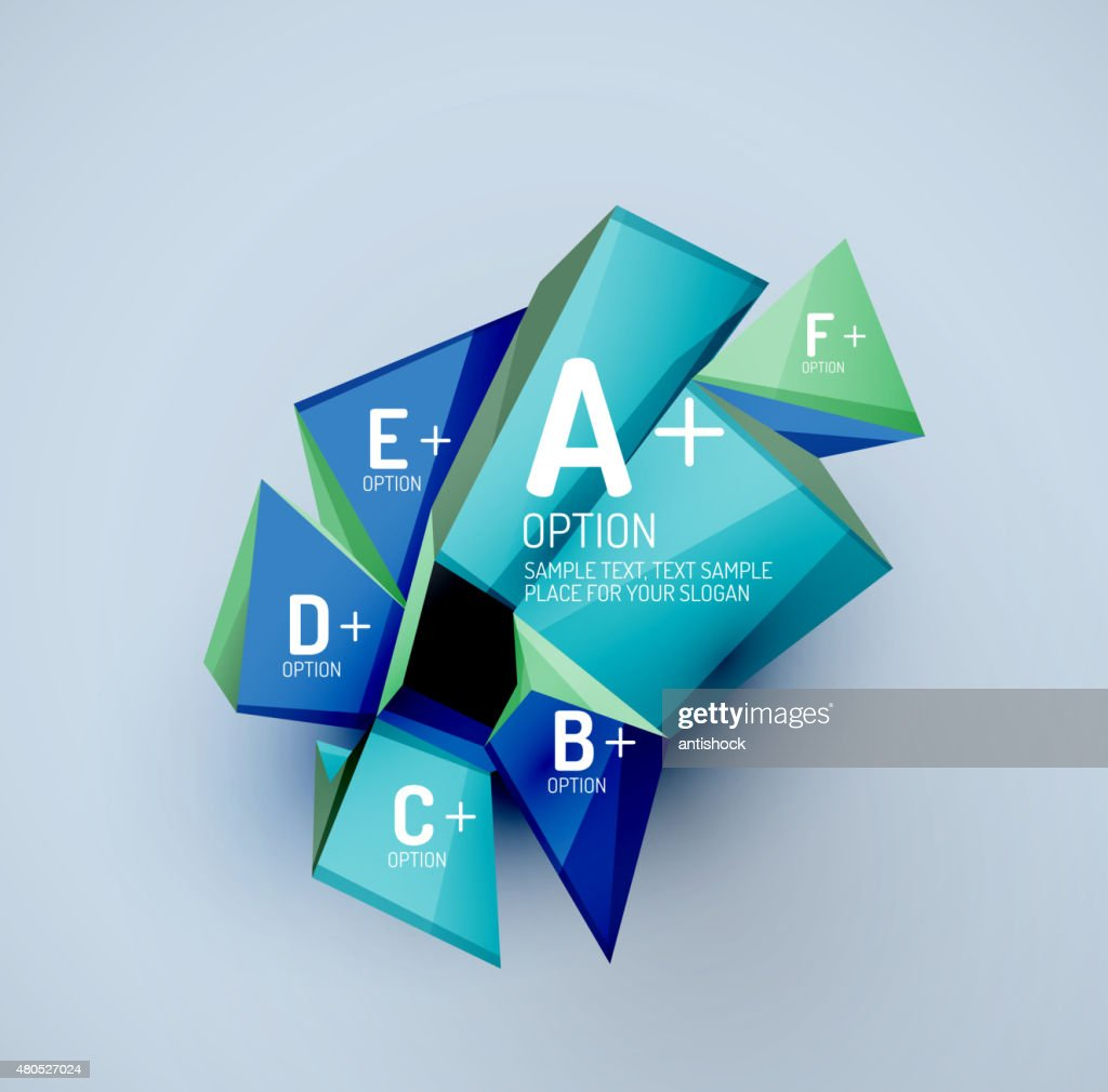 Geometric shapes with sample text. Abstract template : Vektorgrafik