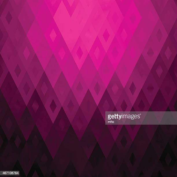 Geometrical abstract background in magenta pink gradient