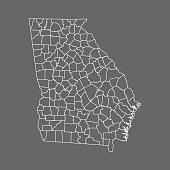 vector map of the Georgia.