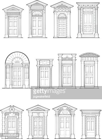 Georgian Door Details Vector Art Getty Images