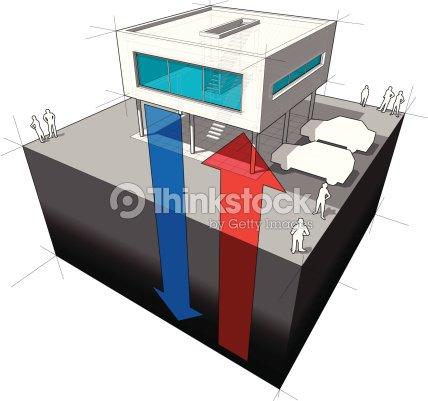 Geothermal Energy Diagram Vector Art Thinkstock