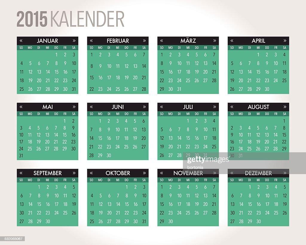 Calendar Template Vector : German calendar template vector art getty images