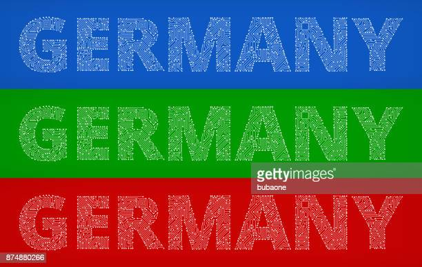 Germany Circuit Board Color Vector Backgrounds