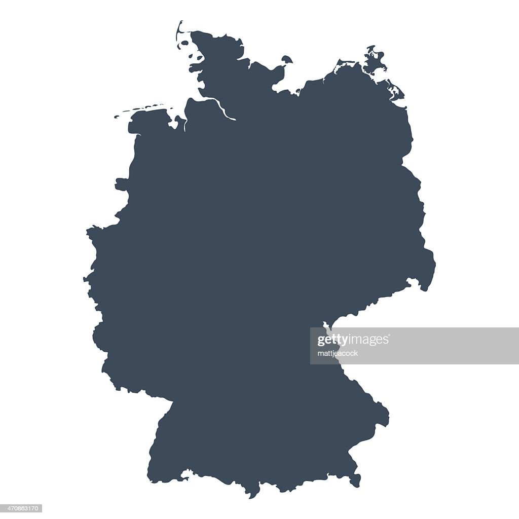 Germany Country Map Vector Art Getty Images - Germany map shape