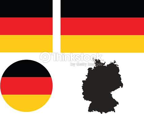 Germany Flag And Map stock vector | Thinkstock on german flags of the world, germany map, state flags map, rhine river map, england map, german stereotypes, german world war 1 map, german state flags,