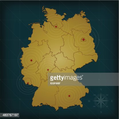 Germany Map Vector Art Getty Images - Germany map 1980