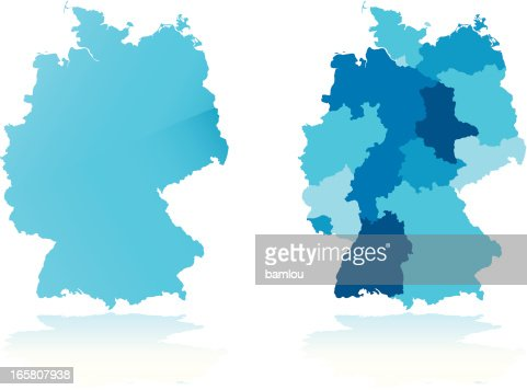 Germany Map Vector Art Getty Images - Germany map vector