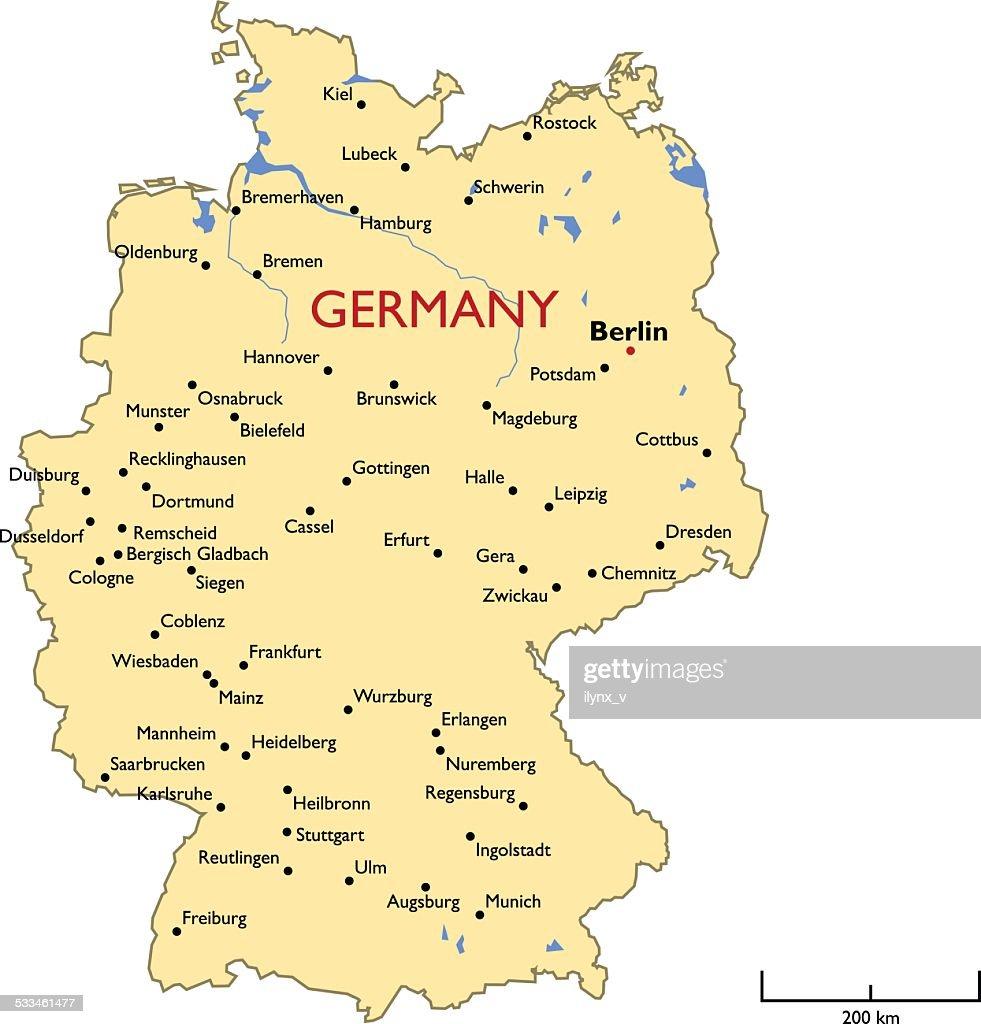 Germany Map Vector Art Thinkstock