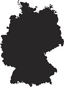 vector illustration of Germany map
