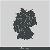 vector map of Germany