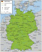 Germany map with selectable territories. Vector illustrationGermany map with selectable territories. Vector illustration