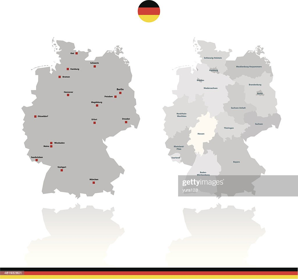 Germany Rough Vector Map Vector Art Getty Images - Germany map vector