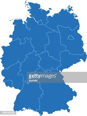Germany Map Vector Art Getty Images - Germany map simple