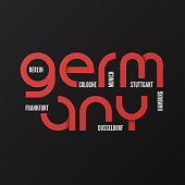 Germany vector t-shirt and apparel design, typography, print, logo, label poster