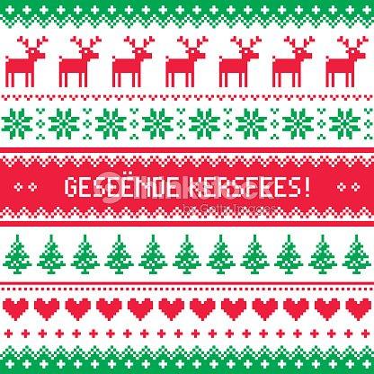 Geseende kersfees merry christmas in afrikaans greetings card geseende kersfees merry christmas in afrikaans greetings card seamless pattern vector art m4hsunfo