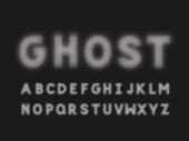 Ghost bold font. Vector alphabet letters. Typeface design.