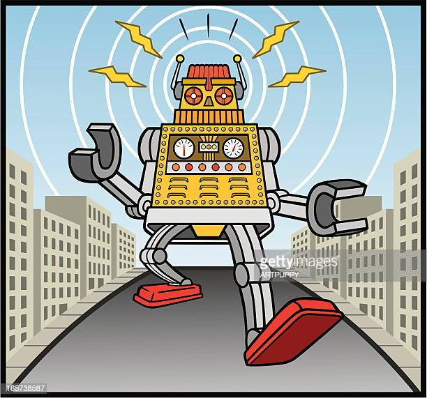 Cartoon Robot Toy : Robot vector art and graphics getty images