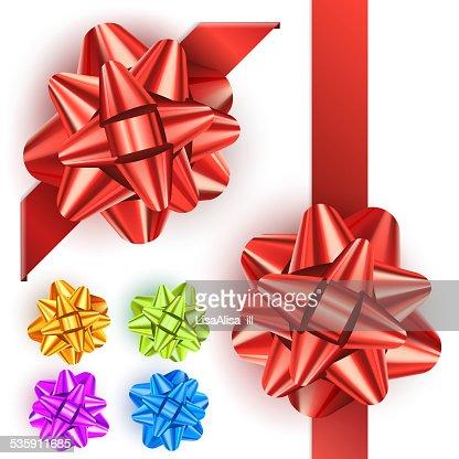 Gift bow set : Vector Art