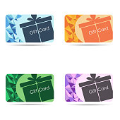 Gift cards set isolated on white background. Vector