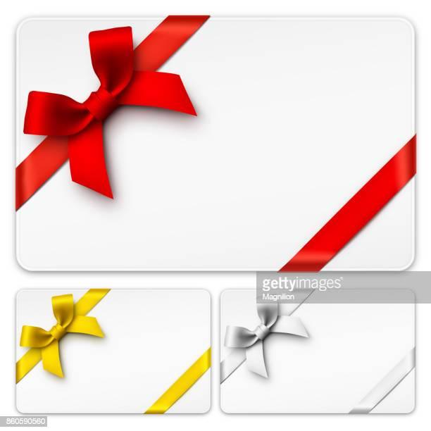 Presentkort med rosetter