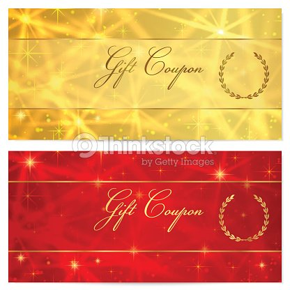 Gift Certificate Coupon Voucher Reward Ticket Template Vector Art – Coupon Voucher Template