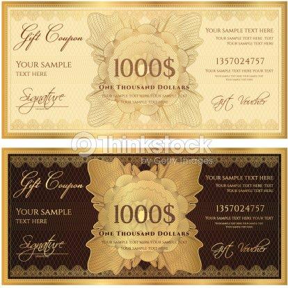 Gift Certificate Vector Art – Money Coupon Template