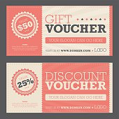Retail promotional gift and discount voucher