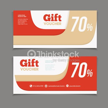 Gift Or Discount Voucher Template With Modern Design Vector Art – Discount Voucher Design
