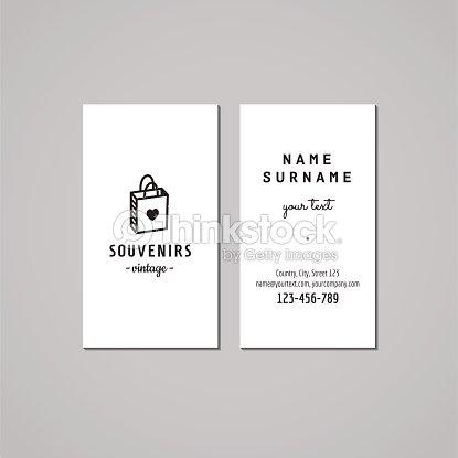 Gift shop business card design concept logo with gift bag vector art gift shop business card design concept logo with gift bag vector art colourmoves