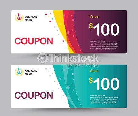 gift voucher card template design coupon template vector vector art