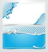 gift voucher ribbon card