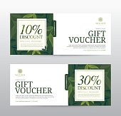 Gift Voucher template for Spa, Hotel Resort, Vector illustration