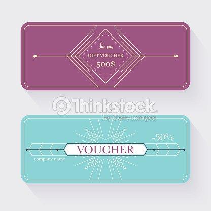 Gift Voucher Template Gift Certificate Background Design Gift Vector ...